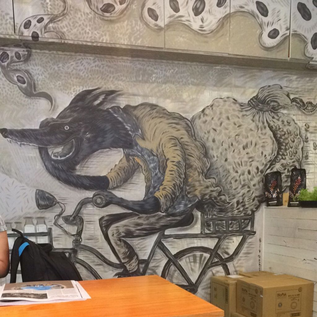 """Photo of The Wolf Espresso  by <a href=""""/members/profile/Adro84"""">Adro84</a> <br/>Cool wall art <br/> October 27, 2015  - <a href='/contact/abuse/image/60727/122924'>Report</a>"""
