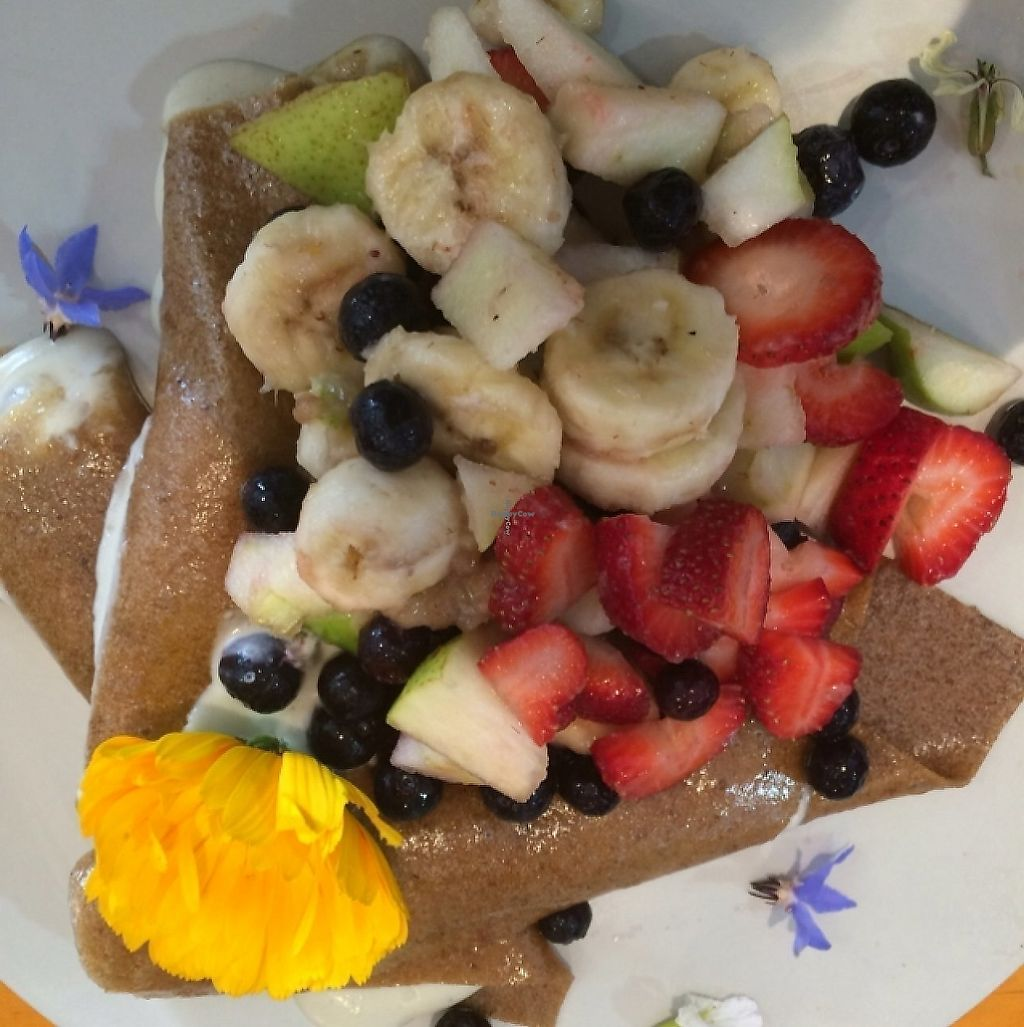"""Photo of The Wolf Espresso  by <a href=""""/members/profile/Adro84"""">Adro84</a> <br/>Raw Vegan Maple Pancakes <br/> October 27, 2015  - <a href='/contact/abuse/image/60727/270643'>Report</a>"""