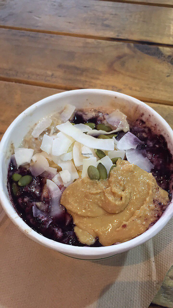 """Photo of The Wolf Espresso  by <a href=""""/members/profile/Lynn555"""">Lynn555</a> <br/>Peanut butter and banana oatmeal for breakfast! (make sure there is no honey) <br/> August 12, 2017  - <a href='/contact/abuse/image/60727/292103'>Report</a>"""