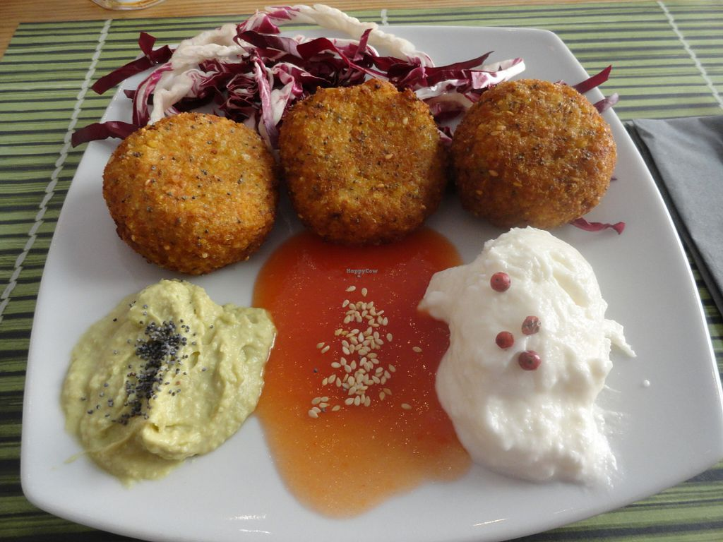 "Photo of Cavoli Nostri  by <a href=""/members/profile/Usagi.Chan"">Usagi.Chan</a> <br/>Meatless meatballs with dips <br/> July 9, 2016  - <a href='/contact/abuse/image/60728/158623'>Report</a>"