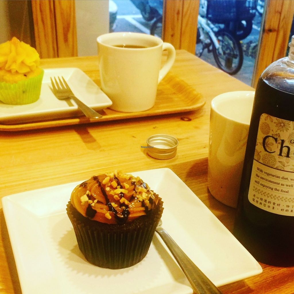 """Photo of Green Bakery  by <a href=""""/members/profile/Pitaya"""">Pitaya</a> <br/>Yummy peanut and pineapple cupcakes with cold and hot coffee <br/> June 11, 2016  - <a href='/contact/abuse/image/60768/153478'>Report</a>"""