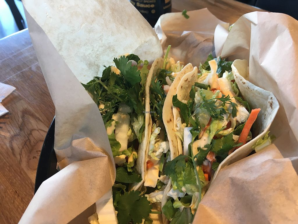 """Photo of Zao Asian Cafe  by <a href=""""/members/profile/JulieCrump"""">JulieCrump</a> <br/>tacos with """"guacamame""""  <br/> July 23, 2017  - <a href='/contact/abuse/image/60773/283487'>Report</a>"""