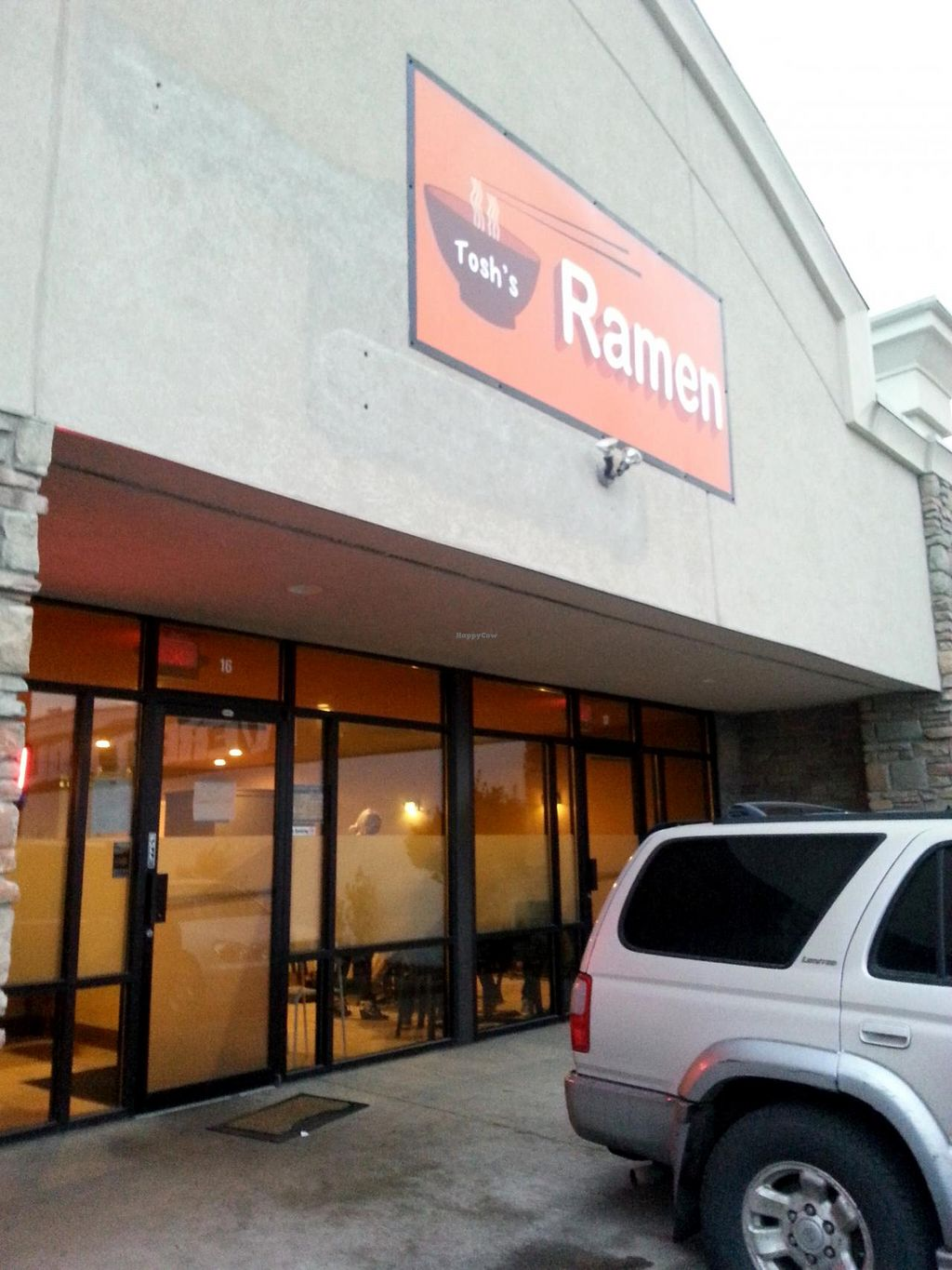 "Photo of Tosh's Ramen  by <a href=""/members/profile/Meggie%20and%20Ben"">Meggie and Ben</a> <br/>Front <br/> July 18, 2015  - <a href='/contact/abuse/image/60775/109836'>Report</a>"