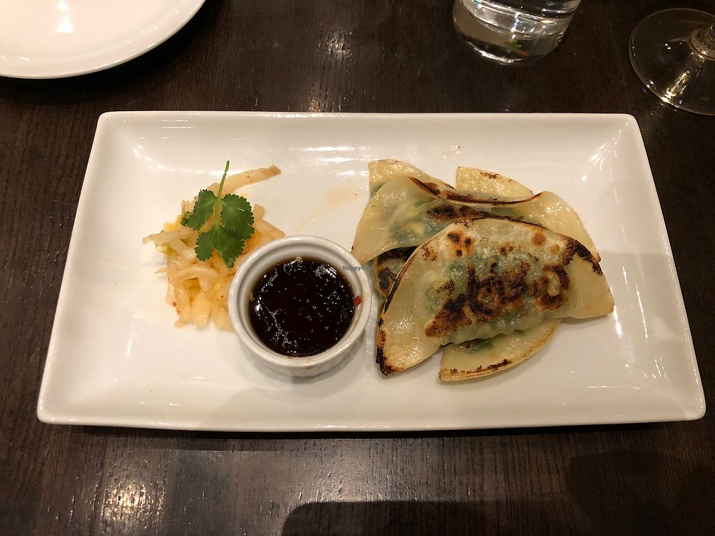 "Photo of Herban Fix Vegan Kitchen  by <a href=""/members/profile/lbvenice%40aol.com"">lbvenice@aol.com</a> <br/>Pan seared dumplings with kimchi.  <br/> December 7, 2017  - <a href='/contact/abuse/image/60802/332972'>Report</a>"