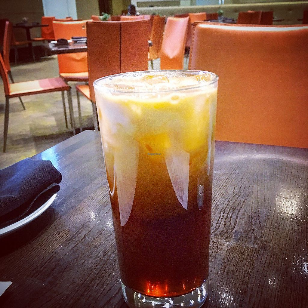 "Photo of Herban Fix Vegan Kitchen  by <a href=""/members/profile/clarebear9"">clarebear9</a> <br/>Thai iced tea <br/> April 11, 2018  - <a href='/contact/abuse/image/60802/384103'>Report</a>"