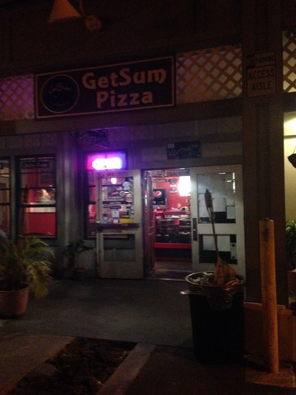 """Photo of Get Sum Pizza  by <a href=""""/members/profile/smfortissimo"""">smfortissimo</a> <br/>Store front at night <br/> March 25, 2017  - <a href='/contact/abuse/image/60803/240465'>Report</a>"""