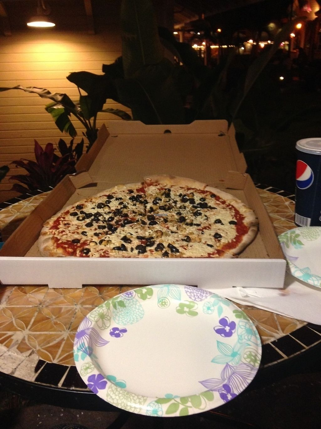 """Photo of Get Sum Pizza  by <a href=""""/members/profile/smfortissimo"""">smfortissimo</a> <br/>Large vegan cheese pizza with black olives and garlic <br/> March 25, 2017  - <a href='/contact/abuse/image/60803/240467'>Report</a>"""