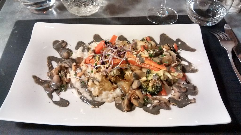 """Photo of CLOSED: La Table des Roy  by <a href=""""/members/profile/JonJon"""">JonJon</a> <br/>Seasonal vegetable Makloubeh and shiro-miso coco Acquerello risotto, mushrooms, black sesame sauce and sprouted seeds <br/> February 26, 2016  - <a href='/contact/abuse/image/60804/137829'>Report</a>"""