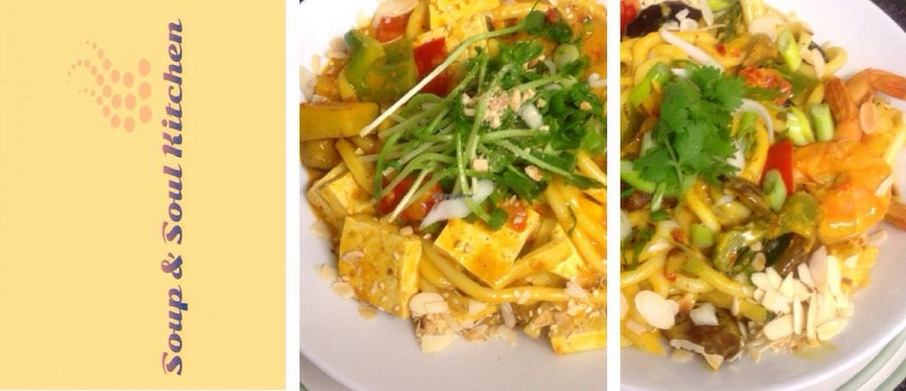 Photo of Soup and Soul Kitchen  by SoupNSoulKitchen <br/>Udon noodles with organic tofu or fish <br/> July 20, 2015  - <a href='/contact/abuse/image/60816/110104'>Report</a>