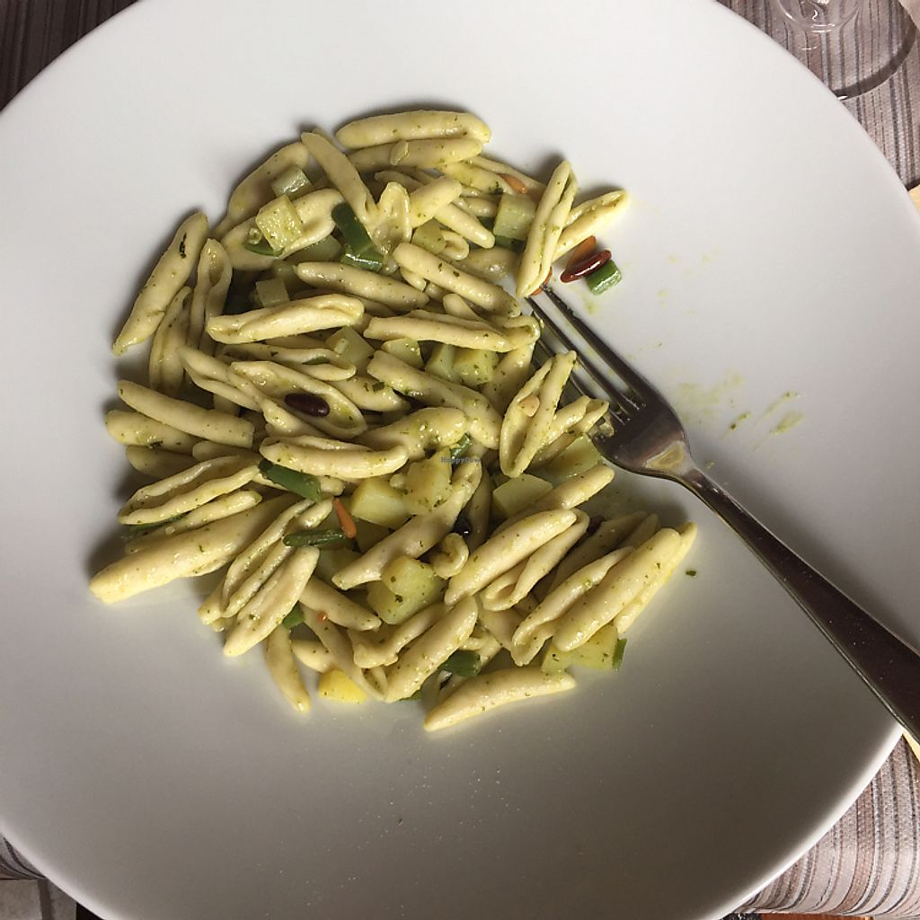 """Photo of Antica Osteria dell'Abate  by <a href=""""/members/profile/stephdanforth"""">stephdanforth</a> <br/>fresh pesto pasta (amazing pasta!!) <br/> June 9, 2017  - <a href='/contact/abuse/image/60824/267286'>Report</a>"""