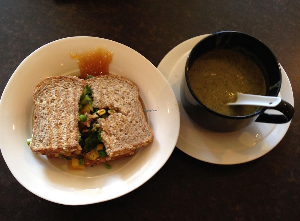"Photo of CLOSED: Heaven on Earth Cafe  by <a href=""/members/profile/drschoen"">drschoen</a> <br/>Sandwich and soup <br/> July 25, 2015  - <a href='/contact/abuse/image/60870/110903'>Report</a>"