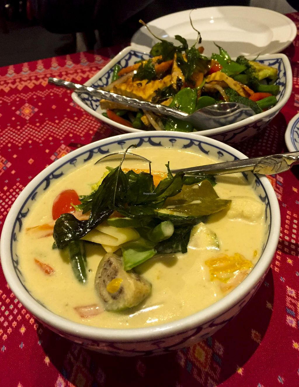 """Photo of Vanilla Orchid  by <a href=""""/members/profile/karlaess"""">karlaess</a> <br/>Green Curry (front) & Pad Grapow (back) <br/> July 24, 2015  - <a href='/contact/abuse/image/60889/110800'>Report</a>"""