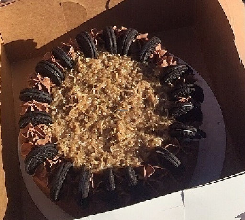 """Photo of CLOSED: Mim's - Food Truck  by <a href=""""/members/profile/CindyStapleton"""">CindyStapleton</a> <br/>Chocolate Caramel Coconut Cake with Oreos :) <br/> September 14, 2016  - <a href='/contact/abuse/image/60954/217652'>Report</a>"""
