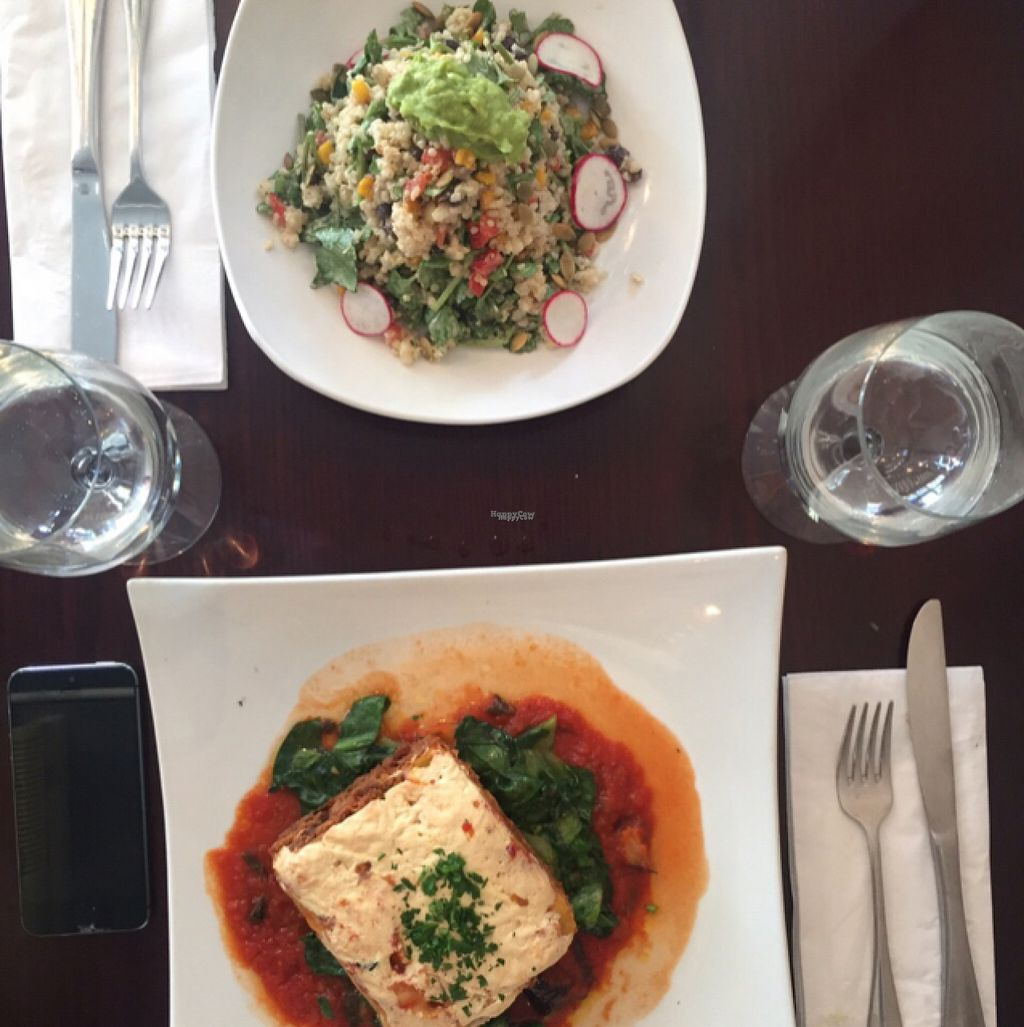 """Photo of Blossom Restaurant  by <a href=""""/members/profile/redsox"""">redsox</a> <br/>Lasagna + Quinoa salad <br/> August 12, 2016  - <a href='/contact/abuse/image/6097/167906'>Report</a>"""