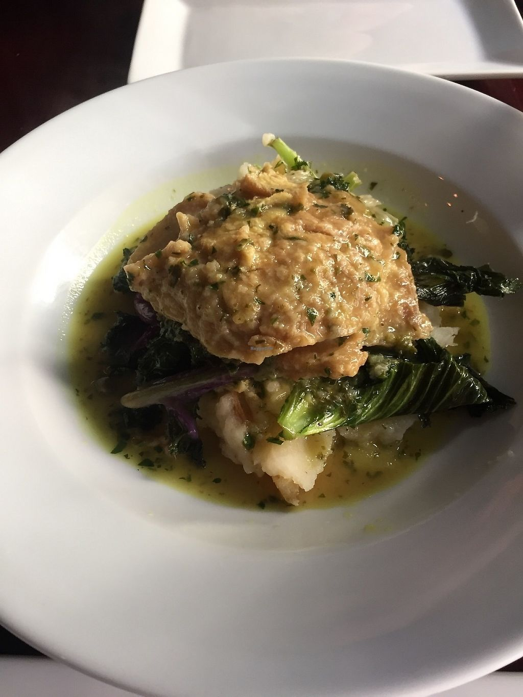 """Photo of Blossom Restaurant  by <a href=""""/members/profile/KaitlynnGill"""">KaitlynnGill</a> <br/>Sietan piccata  <br/> May 1, 2017  - <a href='/contact/abuse/image/6097/254762'>Report</a>"""