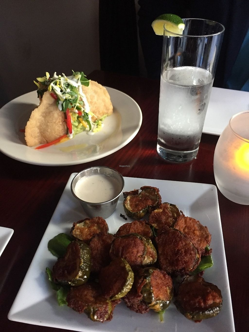 """Photo of Blossom Restaurant  by <a href=""""/members/profile/KaitlynnGill"""">KaitlynnGill</a> <br/>Special empanadas and fried pickles <br/> May 1, 2017  - <a href='/contact/abuse/image/6097/254763'>Report</a>"""