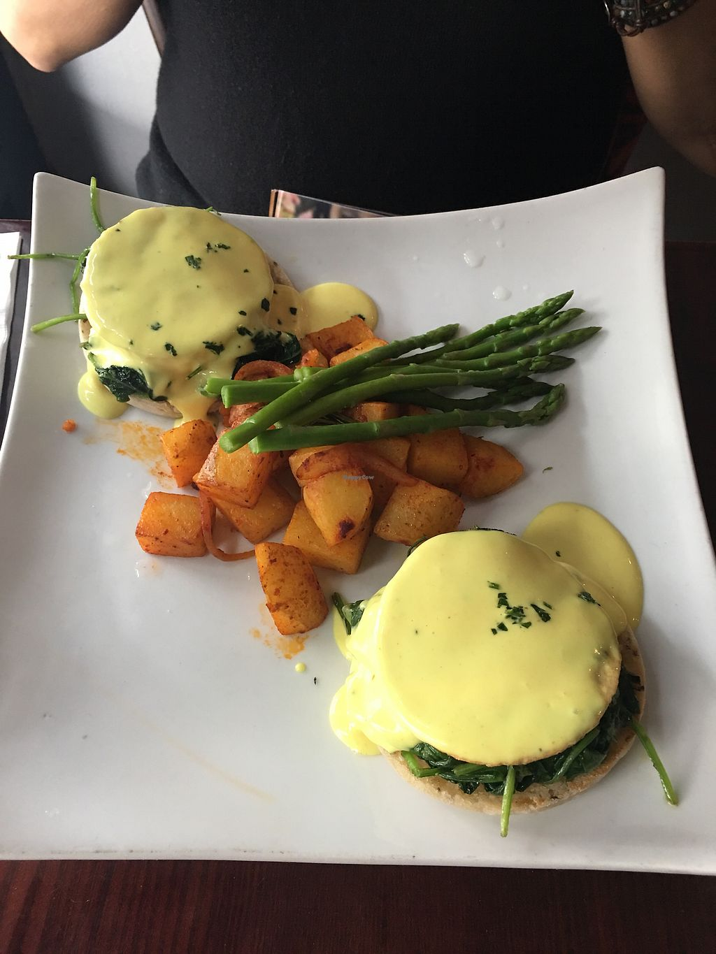 """Photo of Blossom Restaurant  by <a href=""""/members/profile/GloriaBila"""">GloriaBila</a> <br/>tofu Florentine with rosemary potatoes and asparagus  <br/> July 24, 2017  - <a href='/contact/abuse/image/6097/284399'>Report</a>"""