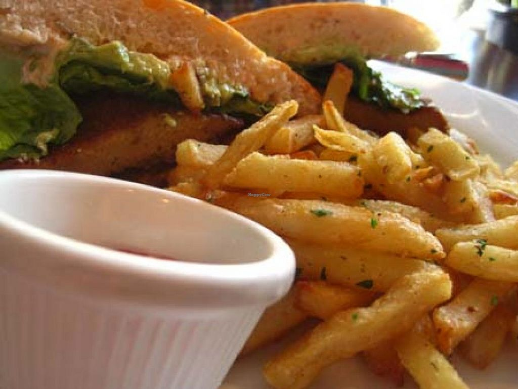 """Photo of Blossom Restaurant  by <a href=""""/members/profile/Babette"""">Babette</a> <br/>The Southern Seitan Sandwich is finger-lickin' good <br/> March 7, 2014  - <a href='/contact/abuse/image/6097/65426'>Report</a>"""