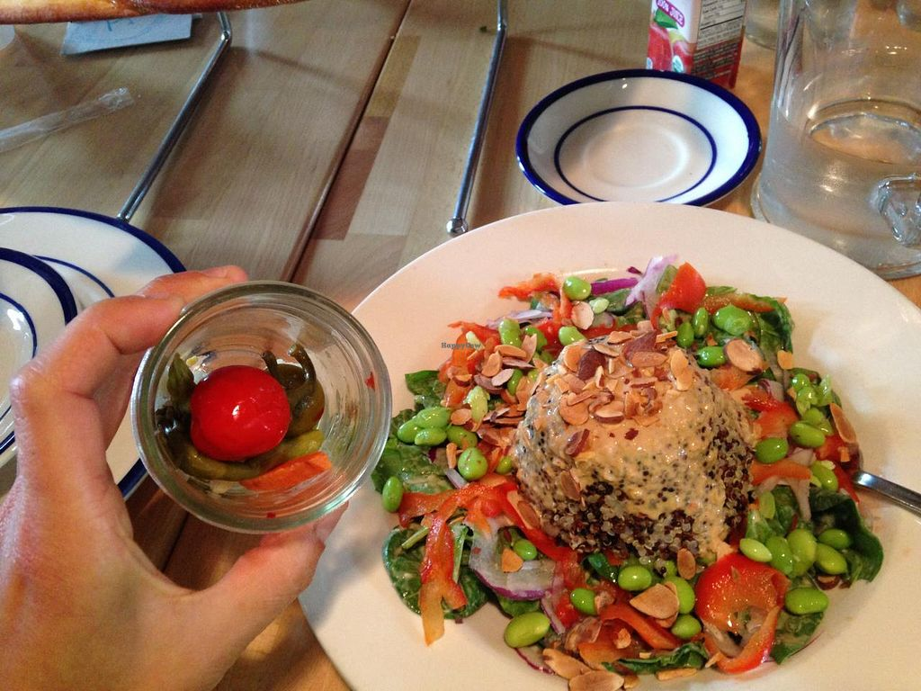 "Photo of Fireweed  by <a href=""/members/profile/Sarah%20P"">Sarah P</a> <br/>quinoa salad and spicy pickled vegetables <br/> July 25, 2015  - <a href='/contact/abuse/image/60985/110961'>Report</a>"
