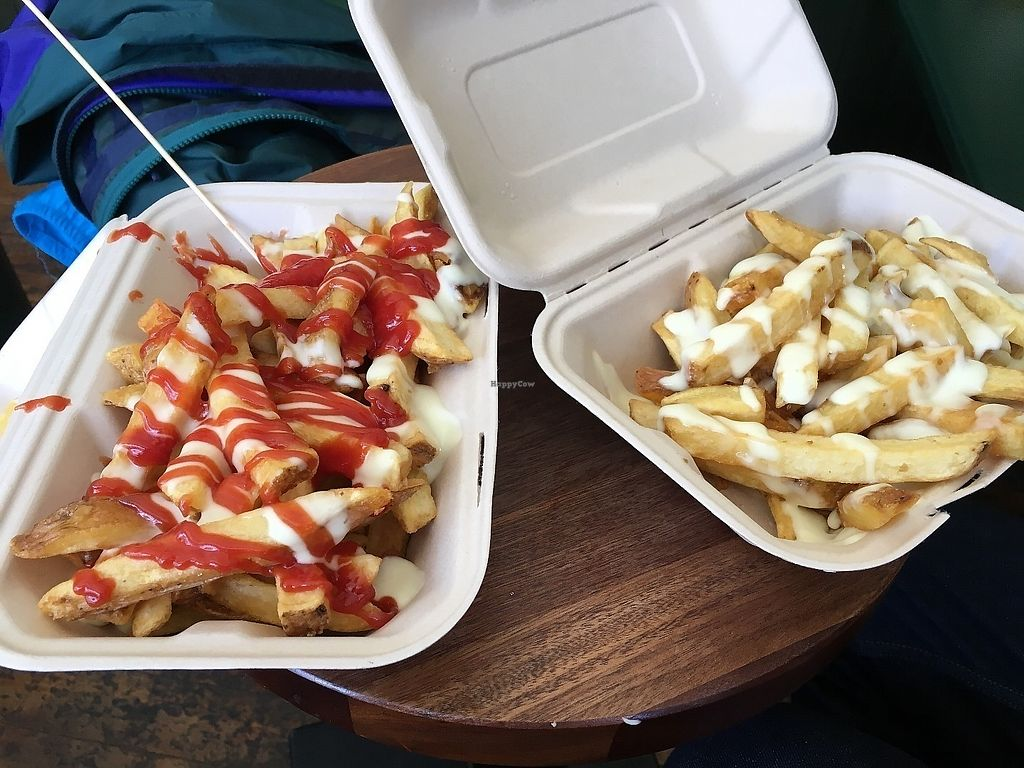 "Photo of Reykjavik Chips  by <a href=""/members/profile/vegan%20frog"">vegan frog</a> <br/>Vegan mayo/ketchup and vegan mayo large fries <br/> June 9, 2017  - <a href='/contact/abuse/image/60986/267458'>Report</a>"