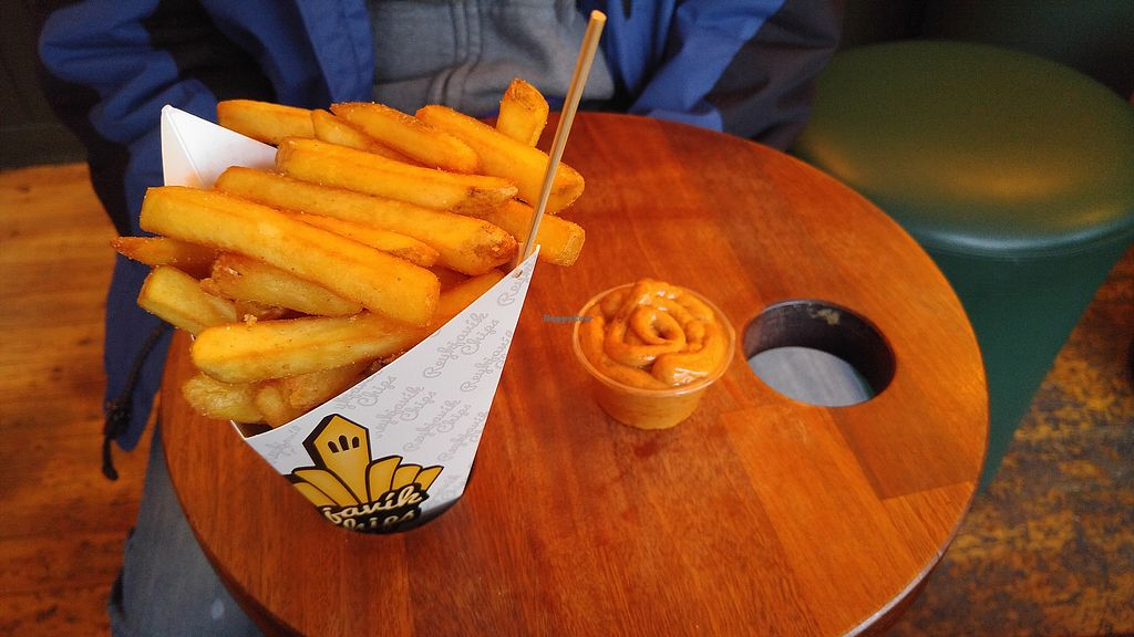 "Photo of Reykjavik Chips  by <a href=""/members/profile/MelG"">MelG</a> <br/>Large chips and vegan satay sauce  <br/> October 29, 2017  - <a href='/contact/abuse/image/60986/319862'>Report</a>"