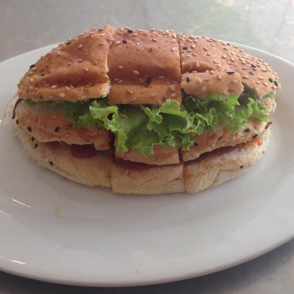 """Photo of Nature's Recipe Cafe  by <a href=""""/members/profile/AndyT"""">AndyT</a> <br/>Fish burger (vegan if ordered w/o mayo) <br/> July 12, 2014  - <a href='/contact/abuse/image/6099/73816'>Report</a>"""