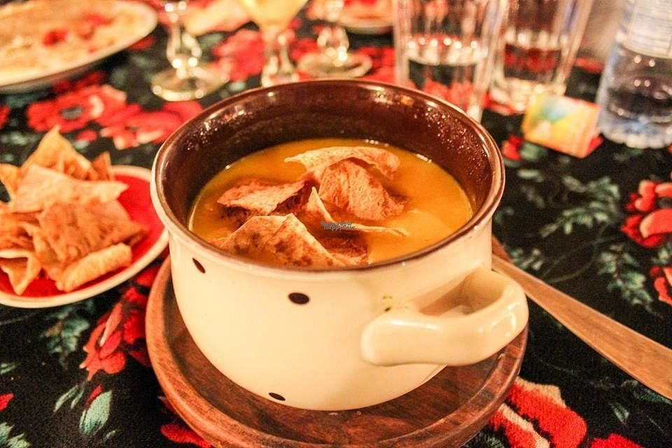 """Photo of Kafe Leila  by <a href=""""/members/profile/SueClesh"""">SueClesh</a> <br/>pumpkin soup with coconut milk <br/> September 25, 2016  - <a href='/contact/abuse/image/61044/177847'>Report</a>"""