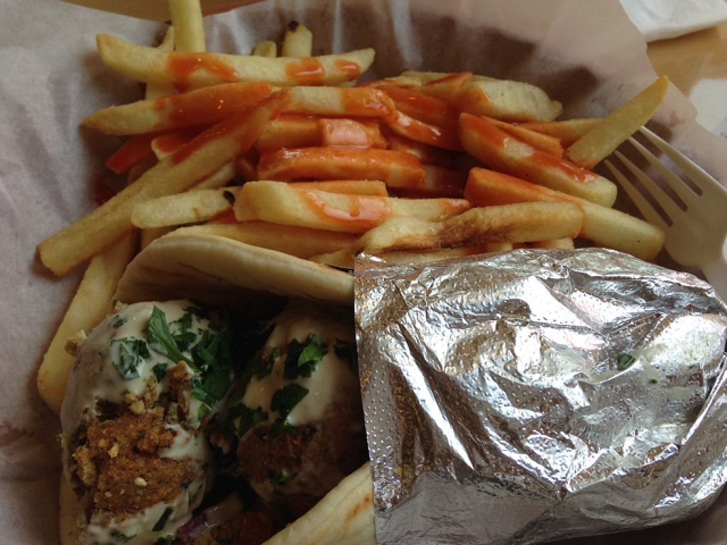 """Photo of Pita Corner  by <a href=""""/members/profile/calamaestra"""">calamaestra</a> <br/>falafel wrap <br/> September 15, 2015  - <a href='/contact/abuse/image/61052/117904'>Report</a>"""