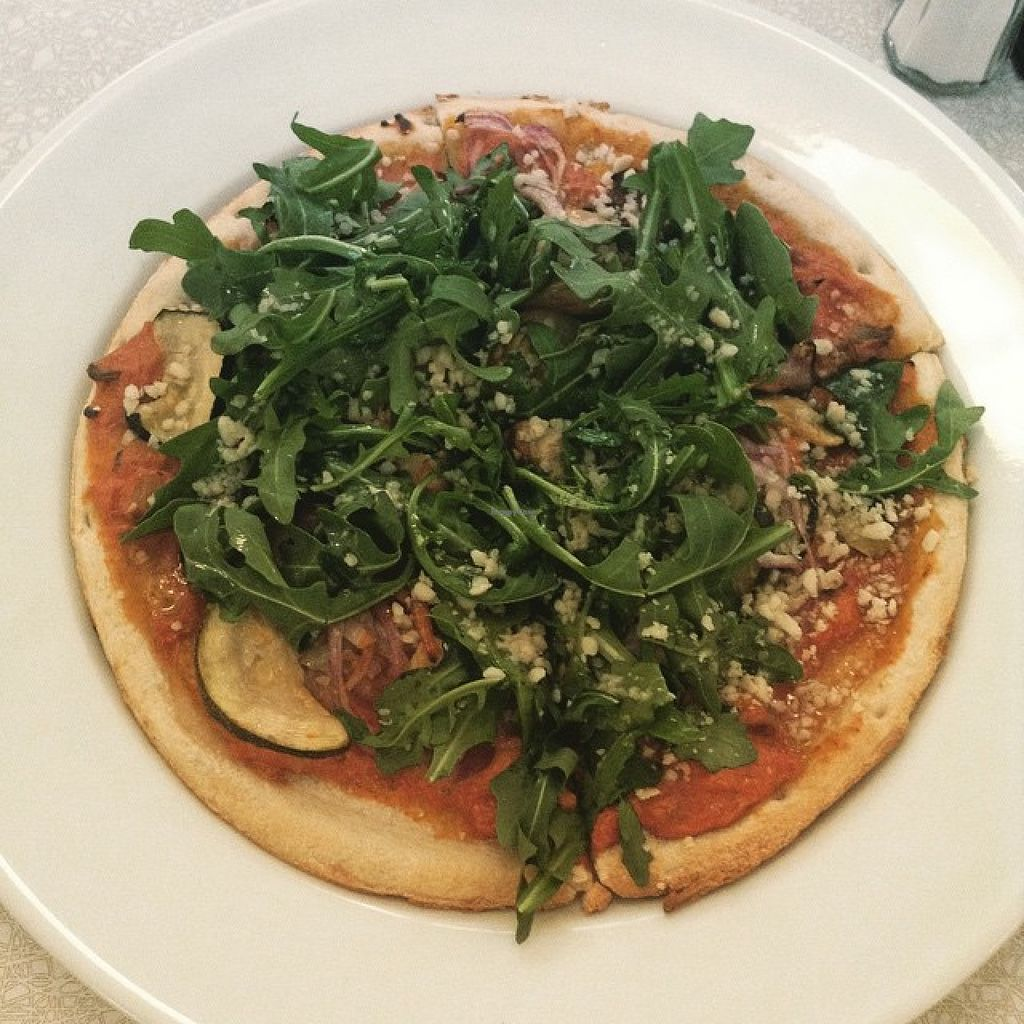 """Photo of Aux Vivres - Comptoir Pret a Manger  by <a href=""""/members/profile/community"""">community</a> <br/>vegan pizza  <br/> July 29, 2015  - <a href='/contact/abuse/image/61069/111424'>Report</a>"""