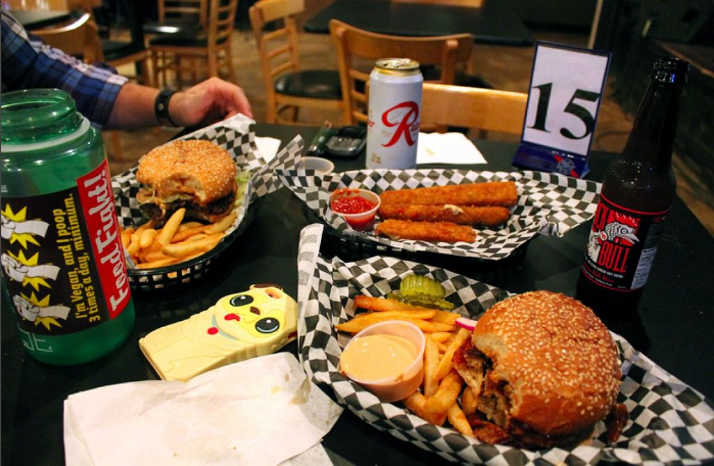 "Photo of Black Water Bar  by <a href=""/members/profile/Raesock"">Raesock</a> <br/>Western burger, bbq sandwich, cheese sticks! so good! <br/> November 30, 2015  - <a href='/contact/abuse/image/61091/126725'>Report</a>"