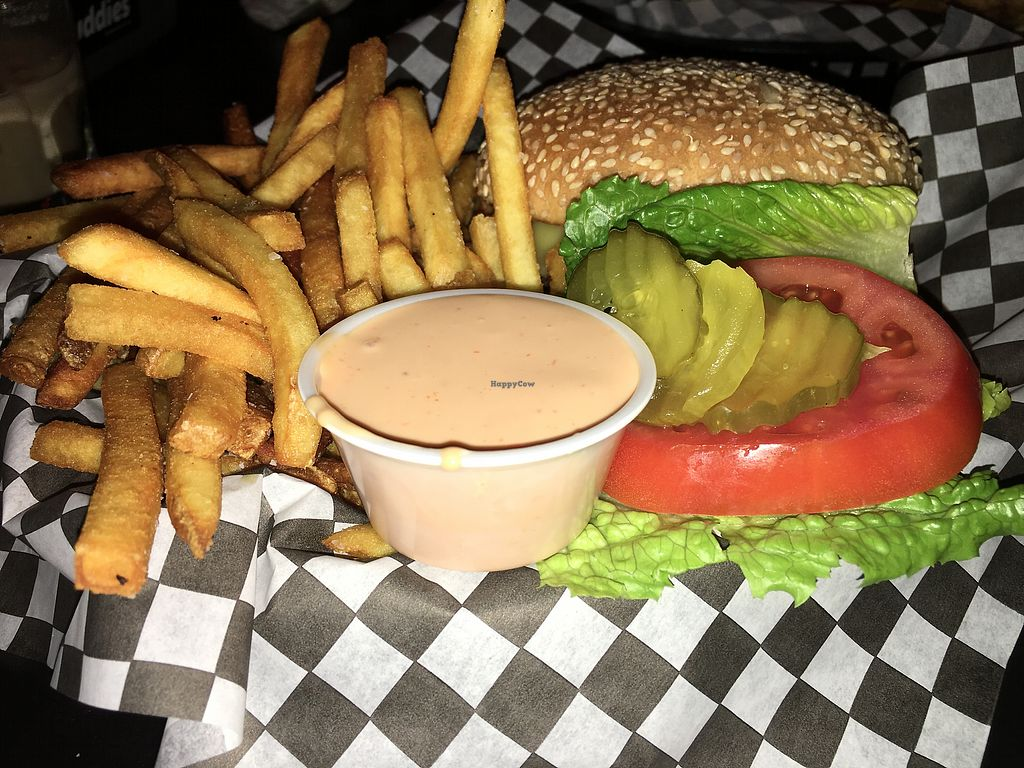 "Photo of Black Water Bar  by <a href=""/members/profile/Veg4Jay"">Veg4Jay</a> <br/>Scorpion Burger <br/> October 31, 2017  - <a href='/contact/abuse/image/61091/320308'>Report</a>"