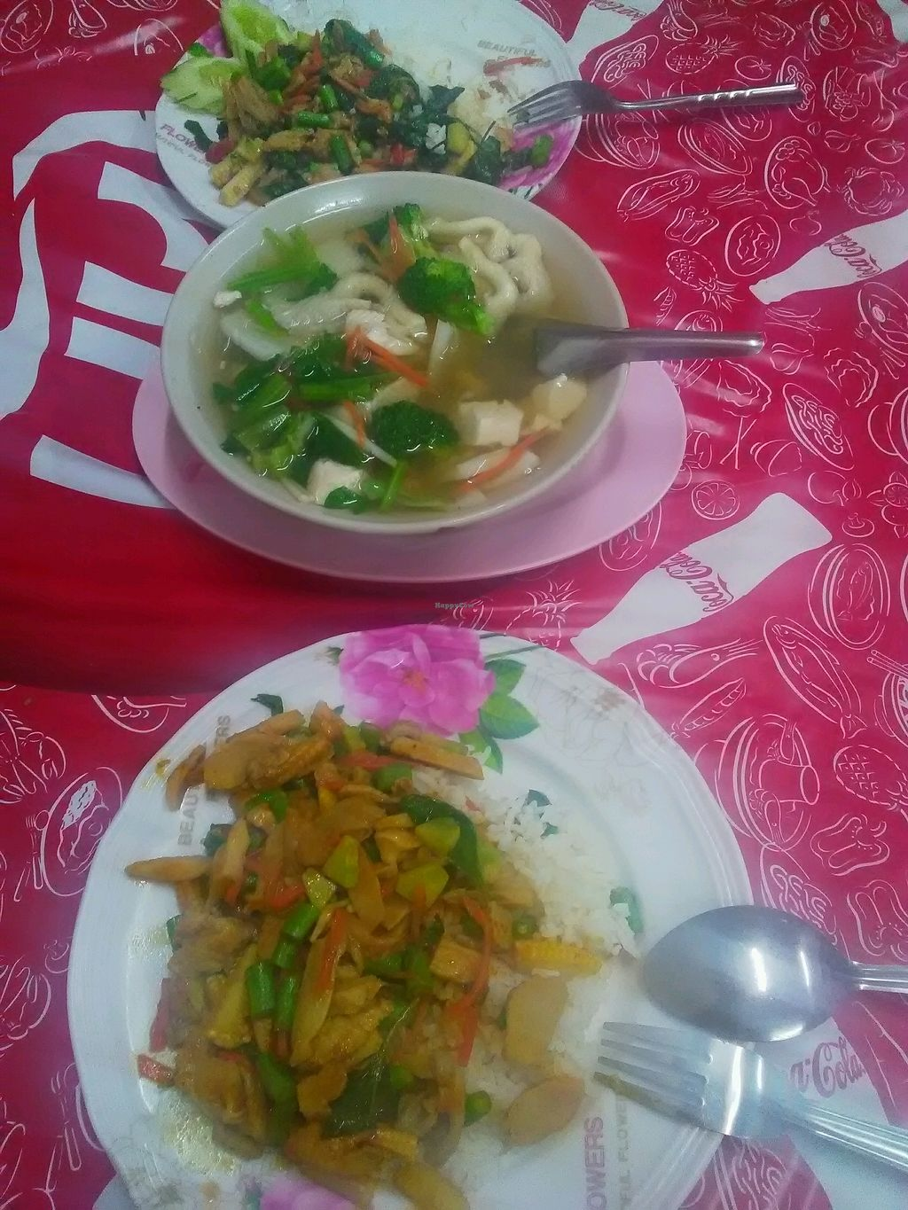 """Photo of Nian Yuen  by <a href=""""/members/profile/ozzita"""">ozzita</a> <br/>fried chilli paste vegetable rice, soup, fried vegetable in holy basil <br/> January 13, 2018  - <a href='/contact/abuse/image/61100/345979'>Report</a>"""