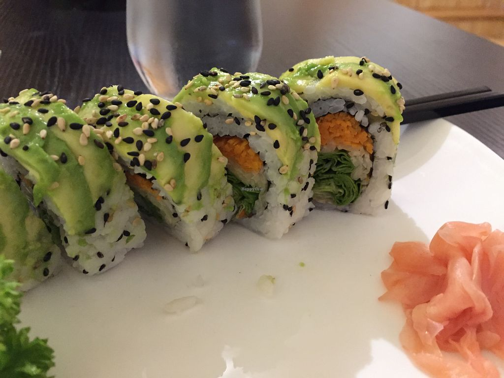 """Photo of Kampai  by <a href=""""/members/profile/steelcitychick"""">steelcitychick</a> <br/>Vegan roll was delicious! <br/> August 14, 2015  - <a href='/contact/abuse/image/61104/113571'>Report</a>"""