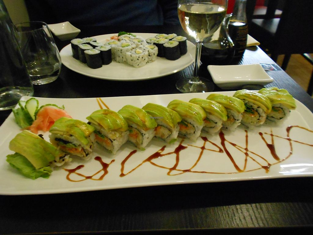 """Photo of Kampai  by <a href=""""/members/profile/Sylvane"""">Sylvane</a> <br/>delicious vegan roll <br/> October 29, 2015  - <a href='/contact/abuse/image/61104/123090'>Report</a>"""