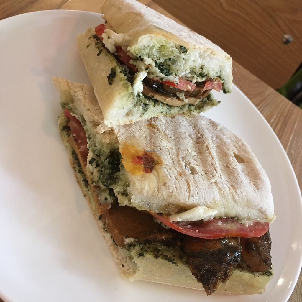 """Photo of Happy Buddha  by <a href=""""/members/profile/SuBravo"""">SuBravo</a> <br/>seitan and pesto panini <br/> July 25, 2017  - <a href='/contact/abuse/image/61106/284724'>Report</a>"""