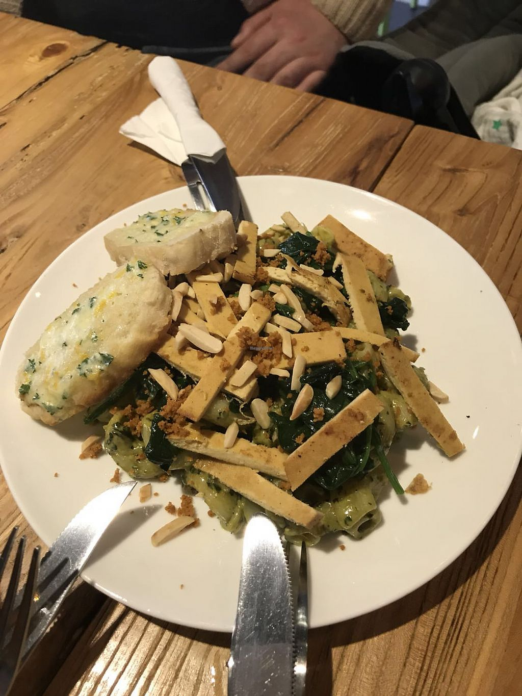"""Photo of Happy Buddha  by <a href=""""/members/profile/silverlady"""">silverlady</a> <br/>Pesto pasta  <br/> March 15, 2018  - <a href='/contact/abuse/image/61106/370997'>Report</a>"""