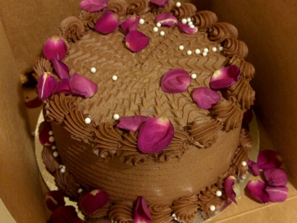 """Photo of Pettirosso  by <a href=""""/members/profile/The%20Hungry%20Vegan"""">The Hungry Vegan</a> <br/>Vegan Chocolate Raspberry Cake <br/> March 15, 2016  - <a href='/contact/abuse/image/61119/140111'>Report</a>"""