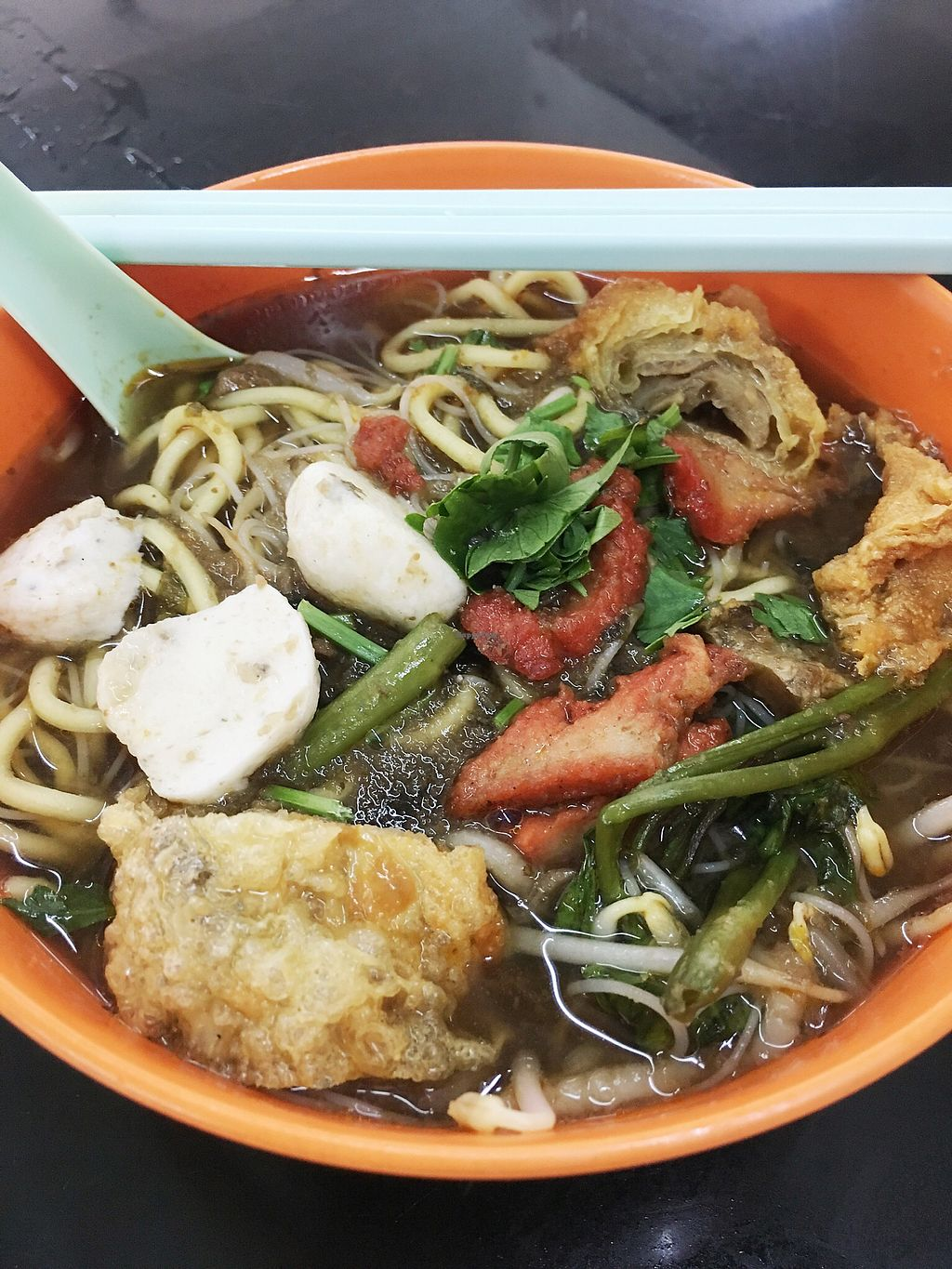"""Photo of Blue Boy Vegetarian Food Centre Stall  by <a href=""""/members/profile/pauldub"""">pauldub</a> <br/>Prawn mee is very tasty even if it doesn't taste like the conventional version <br/> March 22, 2018  - <a href='/contact/abuse/image/6111/374284'>Report</a>"""