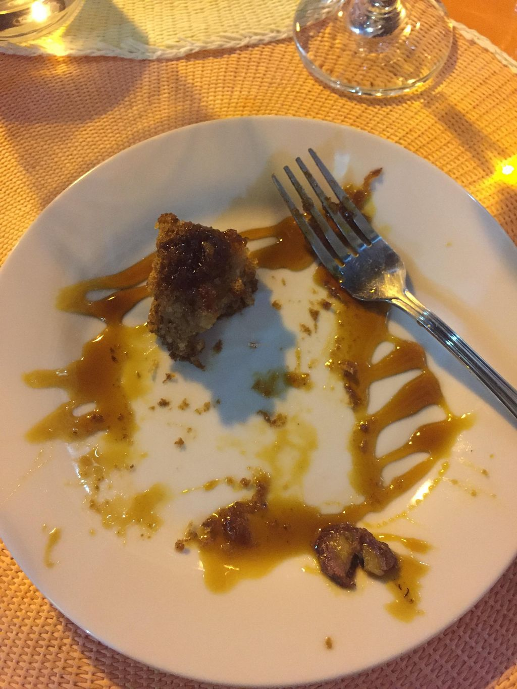 """Photo of CLOSED: Didi Cafe  by <a href=""""/members/profile/wooly"""">wooly</a> <br/>All that remains of the delicious vegan Banana-Coconut cake once my 1.5 year old daughter got to it <br/> August 6, 2015  - <a href='/contact/abuse/image/61120/112536'>Report</a>"""