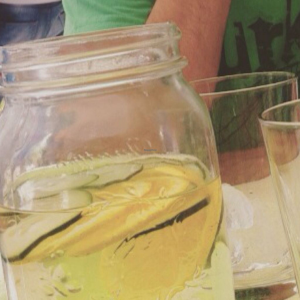 """Photo of CLOSED: Didi Cafe  by <a href=""""/members/profile/leticinarg"""">leticinarg</a> <br/>free water with the menú (cumcumber and Lemon) <br/> August 29, 2015  - <a href='/contact/abuse/image/61120/115651'>Report</a>"""