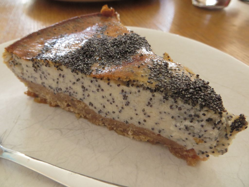 """Photo of Cafe am Schloss  by <a href=""""/members/profile/NatalieBlanc"""">NatalieBlanc</a> <br/>Vegan poppy seeds cheese cake <br/> July 9, 2017  - <a href='/contact/abuse/image/61156/278137'>Report</a>"""