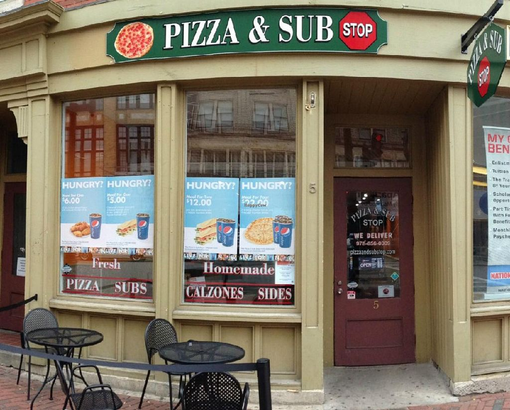 """Photo of Pizza & Sub Stop  by <a href=""""/members/profile/patelba67"""">patelba67</a> <br/>We serve Unique, tasty Veggie, Gluten Free and Vegan items <br/> July 26, 2015  - <a href='/contact/abuse/image/61160/111078'>Report</a>"""