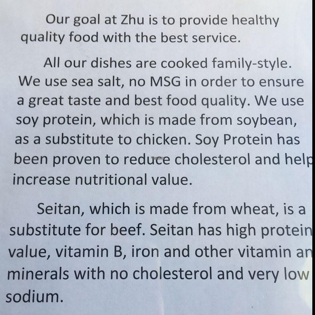 Zhu\'s Pan-Asian Vegan Cuisine - Arlington Massachusetts - HappyCow
