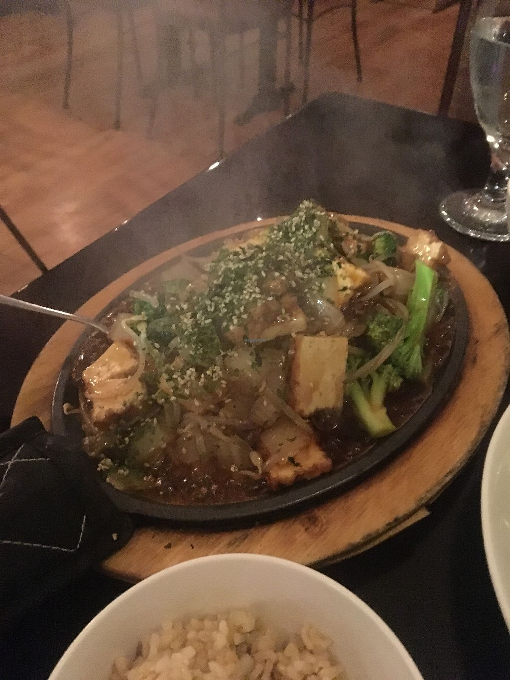 """Photo of Zhu's Pan-Asian Vegan Cuisine  by <a href=""""/members/profile/770veg"""">770veg</a> <br/>Sizzling tofu teriyaki! <br/> December 14, 2017  - <a href='/contact/abuse/image/61169/335371'>Report</a>"""