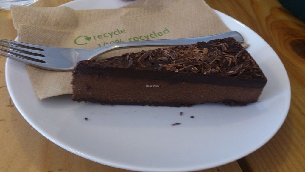 """Photo of Schondorf Bio Cafe  by <a href=""""/members/profile/Laudi"""">Laudi</a> <br/>Vegan Chocolate Cake <br/> March 8, 2016  - <a href='/contact/abuse/image/61180/139254'>Report</a>"""