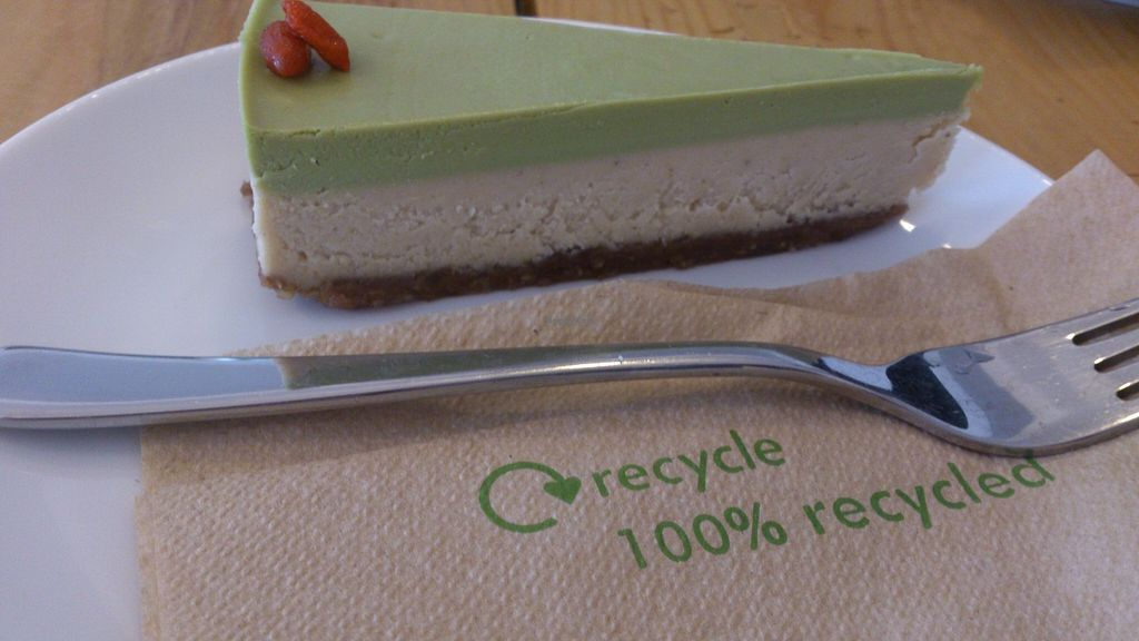 """Photo of Schondorf Bio Cafe  by <a href=""""/members/profile/Laudi"""">Laudi</a> <br/>Vegan Matcha Cake <br/> March 8, 2016  - <a href='/contact/abuse/image/61180/139255'>Report</a>"""