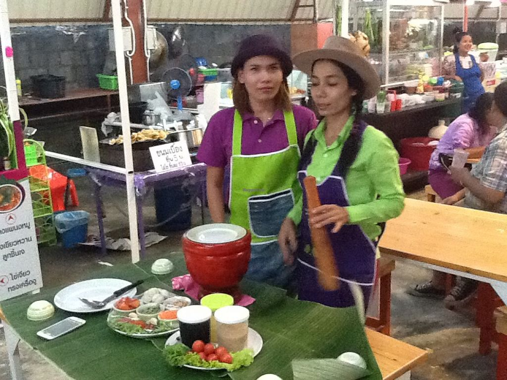 """Photo of CLOSED: Nam Mangosteen Thailand   by <a href=""""/members/profile/Tim_nottingham"""">Tim_nottingham</a> <br/>The owner and assistant.  <br/> July 30, 2015  - <a href='/contact/abuse/image/61185/111566'>Report</a>"""