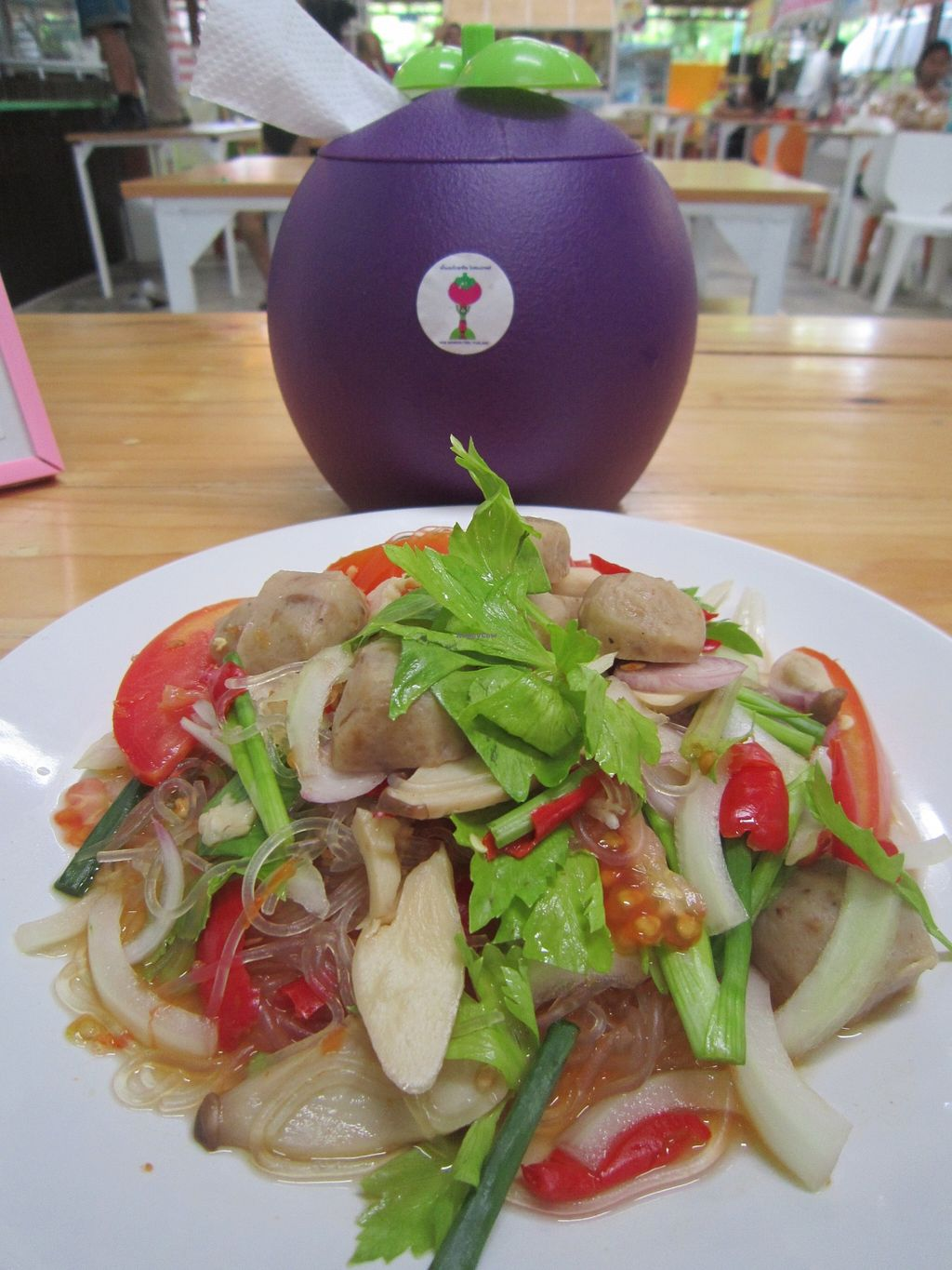 """Photo of CLOSED: Nam Mangosteen Thailand   by <a href=""""/members/profile/IanSmith"""">IanSmith</a> <br/>full of fresh flavours, glass noodle salad <br/> September 26, 2015  - <a href='/contact/abuse/image/61185/119163'>Report</a>"""