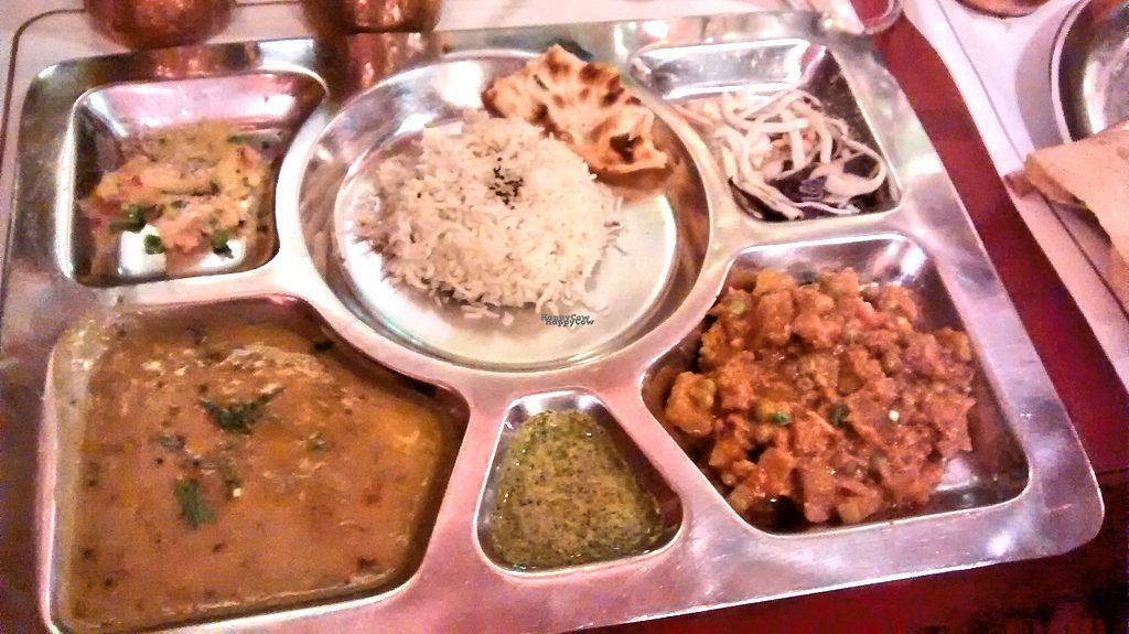 """Photo of Veg World India  by <a href=""""/members/profile/JonJon"""">JonJon</a> <br/>Thali in the menu del dia <br/> September 6, 2016  - <a href='/contact/abuse/image/6119/173890'>Report</a>"""