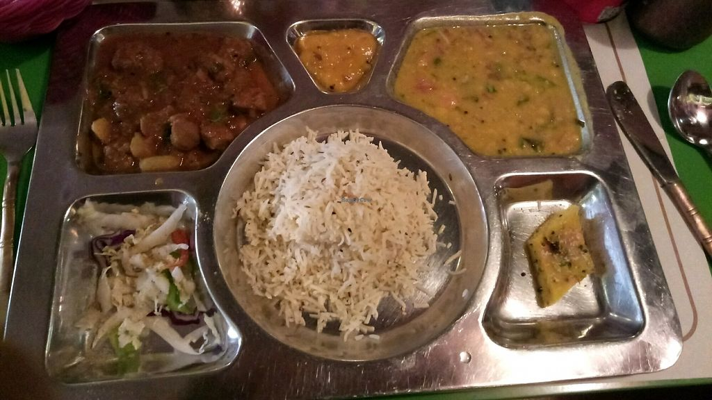 """Photo of Veg World India  by <a href=""""/members/profile/Orkaniz"""">Orkaniz</a> <br/>Thali <br/> November 1, 2017  - <a href='/contact/abuse/image/6119/320910'>Report</a>"""